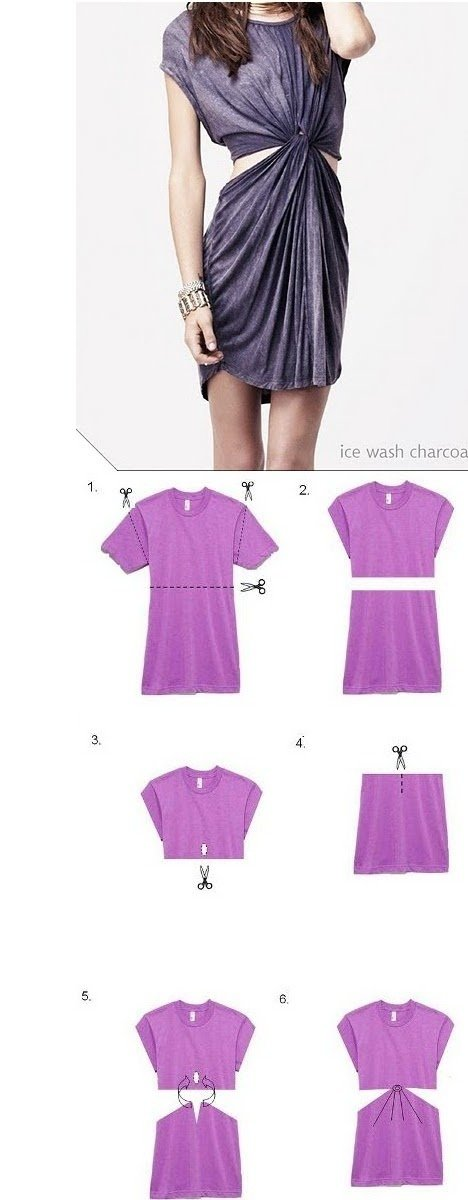 Give Your Old T-shirt Dress a New Look