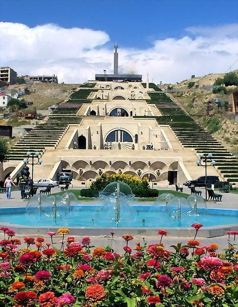 Yerevan Cascade,landmark,archaeological site,vacation,tourism,