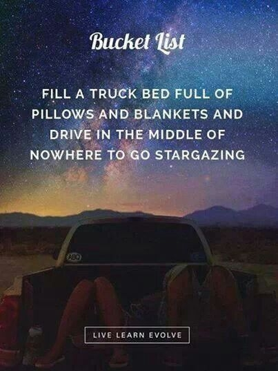 Watching Stars In The Bed Of A Truck