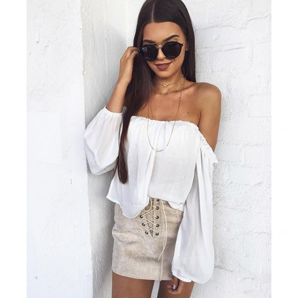 white, clothing, sleeve, outerwear, blouse,