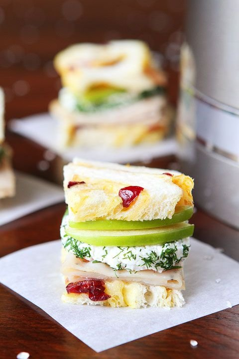 33. Turkey and Apple Goat Cheese Tea Sandwiches - 38 Tea Sandwiches…