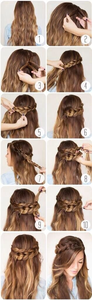 Romantic Braided Crown Hairstyle Tutorial
