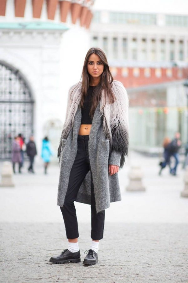 Crop Top 26 Bits Of Winter Street Style Inspiration From Chilly