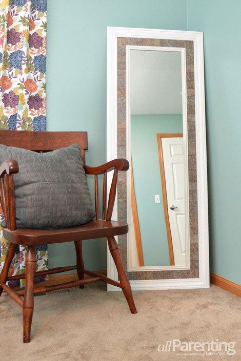 Marco espejo con azulejos 7 hermosos espejos de cuerpo for Espejo cuerpo entero vintage