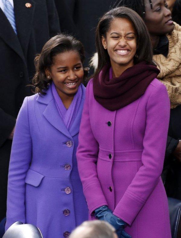 Sasha Obama, 13, and Malia Obama, 16