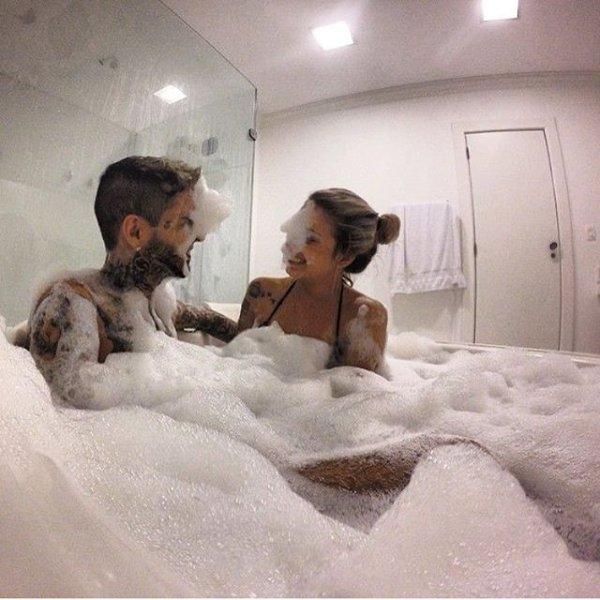 image, human positions, child, art, bathing,