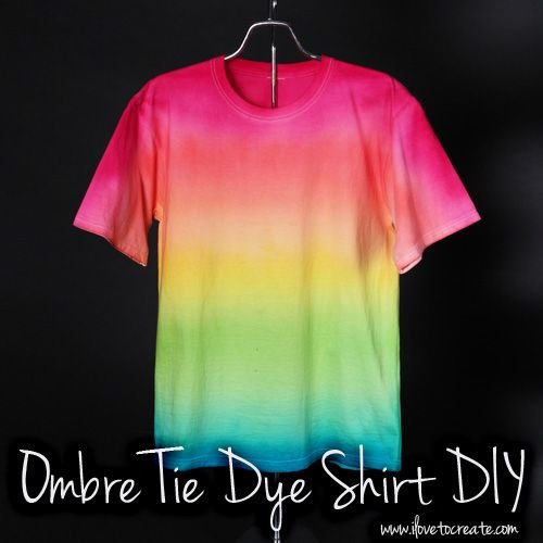 Ombre tie dye shirt here 39 s why you have to tie dye this for How do you dye a shirt