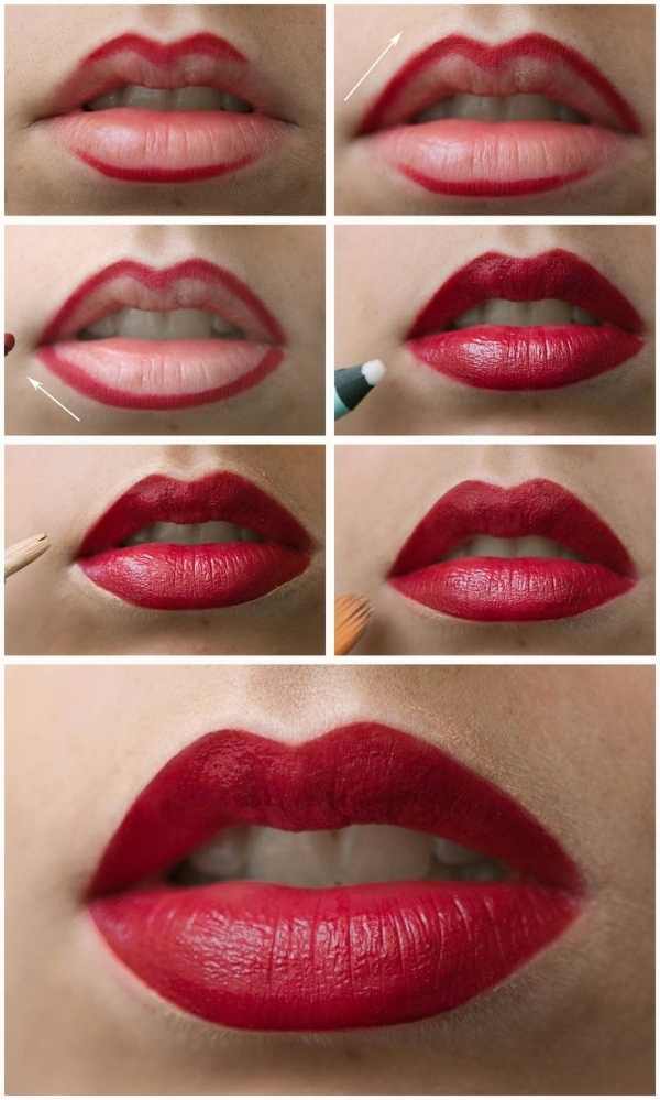 The Red lipstick became the