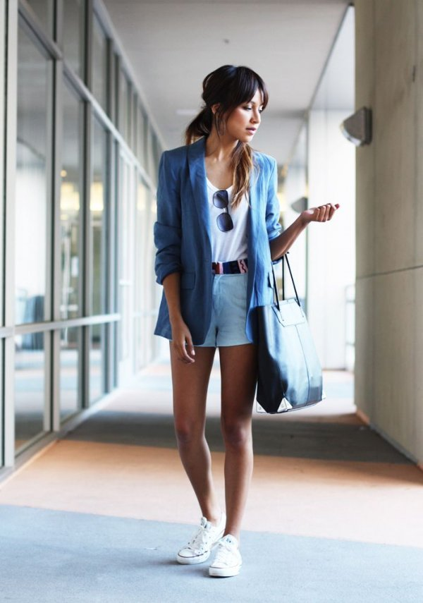 In Vogue: Shorts and Blazer