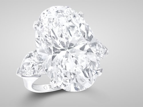 Graff Oval-Cut Diamond Ring