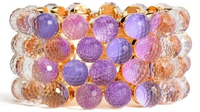Cara Accessories Iridescent Bauble Stretch Cuff