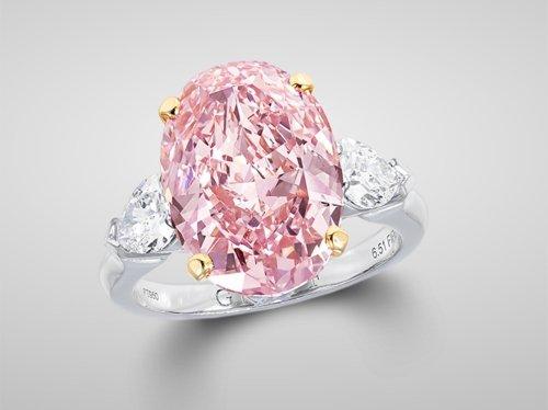 Graff Pink Oval-Cut Ring