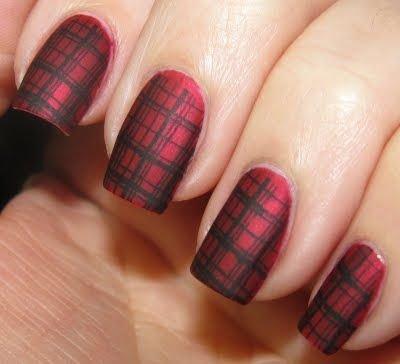 Matte plaid nails 39 awesome plaid nail art designs for your matte plaid nails prinsesfo Choice Image