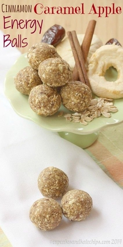 Cinnamon Caramel Apple Energy Balls