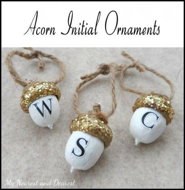 Diy Personalized Acorn Christmas Ornaments
