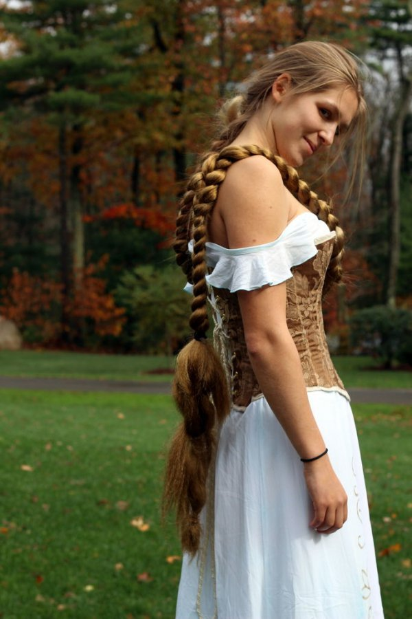 Strange Hairstyles For Super Long Hair Think Rapunzel Hair Hairstyles For Men Maxibearus