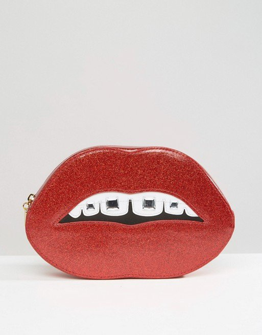 red, pink, hairstyle, coin purse, moustache,