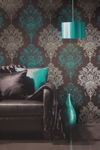 brown and turquoise wall paint