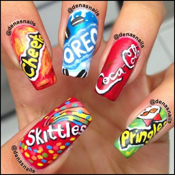Junk Food Snacks - Junk Food Snacks - 27 Food Nail Art Designs That Will Make You…