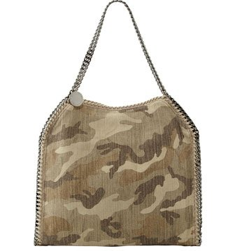 Falabella Camo Print Baby Tote Bag