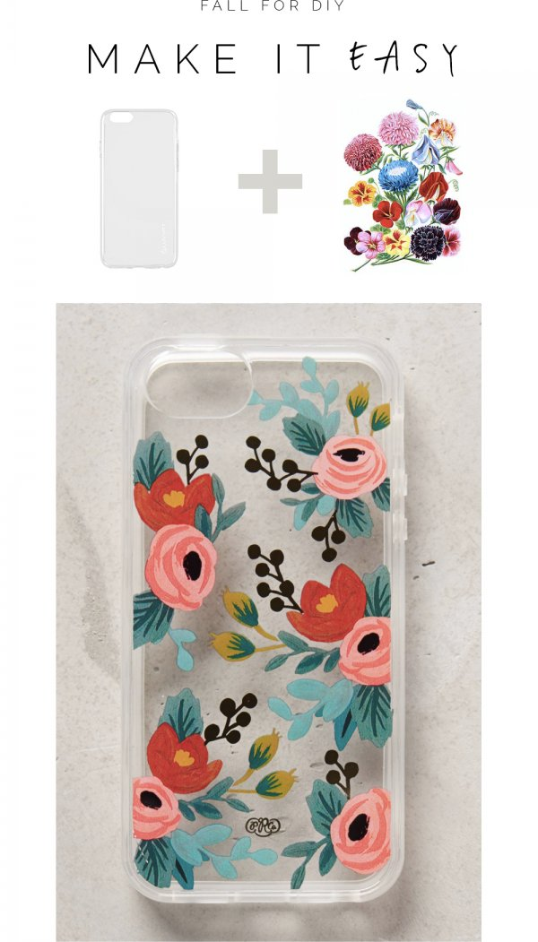 Easy Floral Tattoo Case