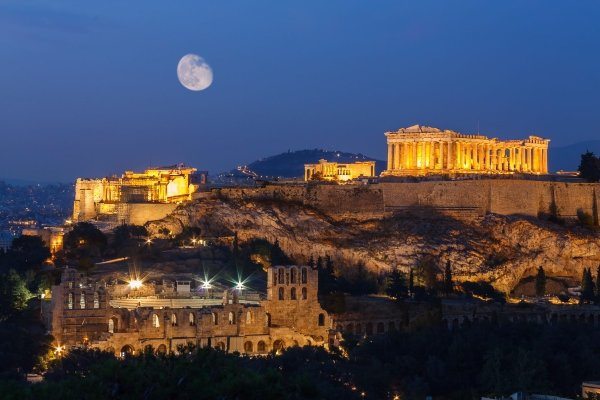 Walk up the Acropolis in Athens in Greece