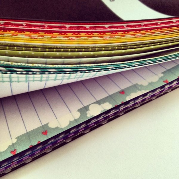 Washi Tape Edged Pages