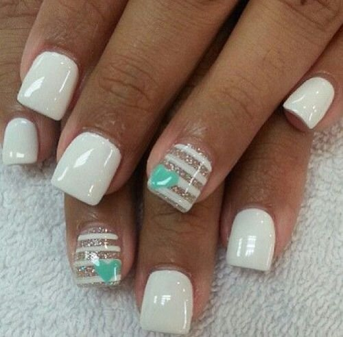 Simple white nail design red hot inspo for girls who want white simple white nail design prinsesfo Gallery