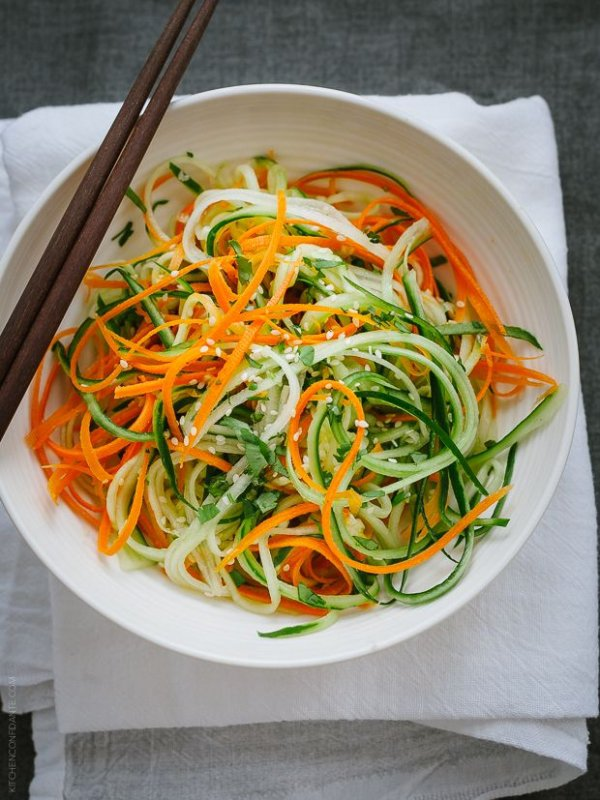 Asian Cucumber Carrot Slaw