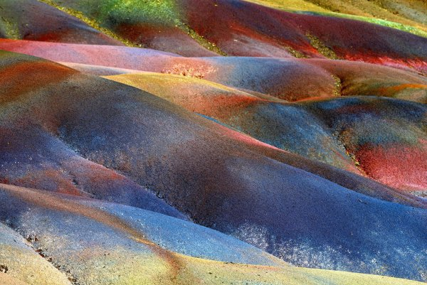 The Colored Earth of Chamarel in Mauritius