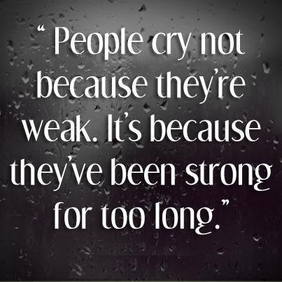Crying Doesn't Show Weakness