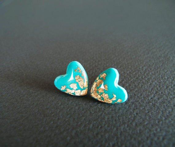 Tiffany Heart Stud Earrings