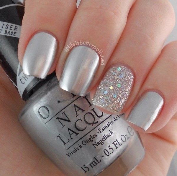 Try a Matte Silver Metallic Design