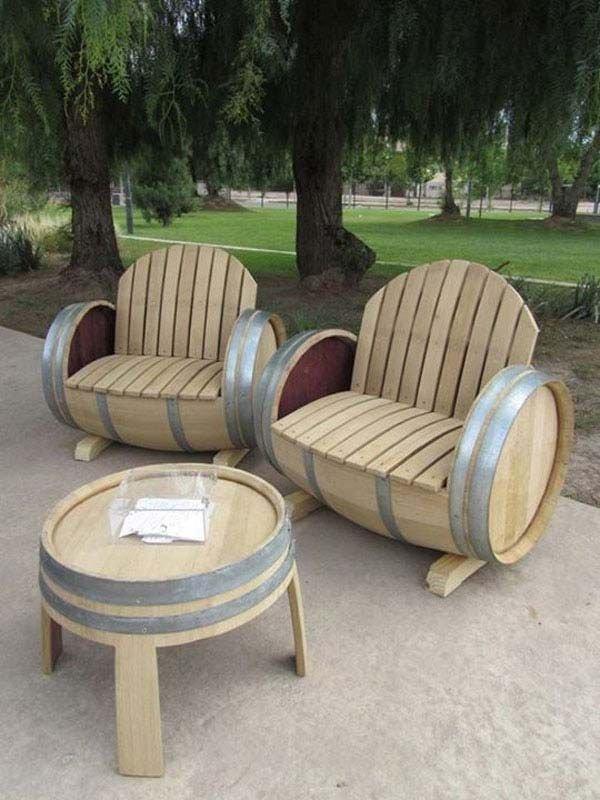 Old Wine Barrels