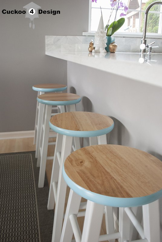 Pop Of Blue 7 Gorgeous Diy Bar Stools Diy