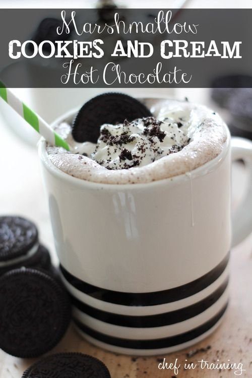 Marshmallow Cookies and Cream Hot Chocolate