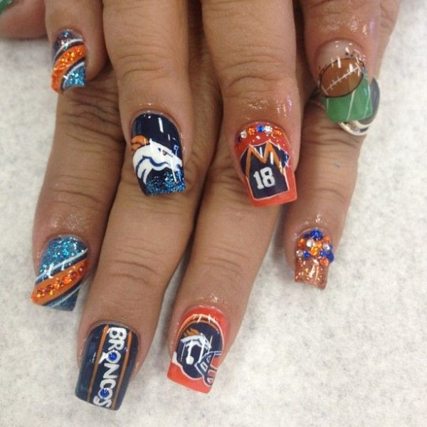 Via Nfl Nail Art 49ers