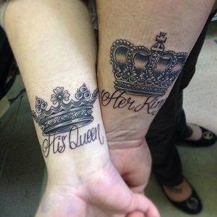 le roi et la reine couple 32 des meilleurs couples de tatouages. Black Bedroom Furniture Sets. Home Design Ideas