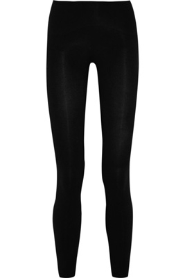 Spanx Look-at-Me Stretch Cotton-Blend Leggings