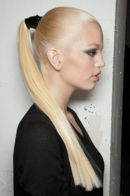 long and sleek ponytail   29 ways to spice up your ponytail