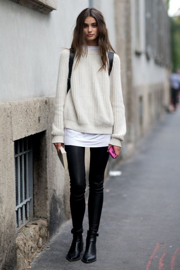 How to Wear an Oversized Sweater during Winter ... …