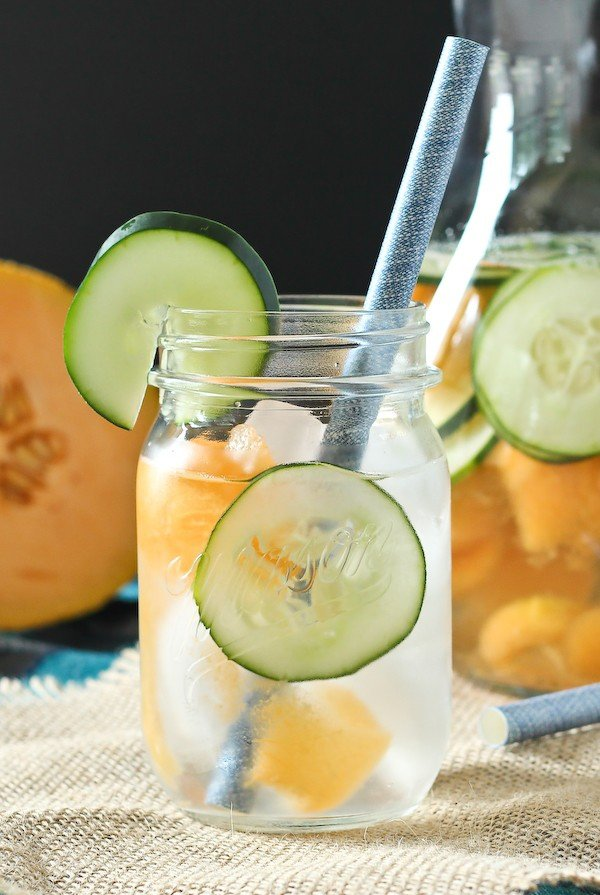 Cantaloupe Cucumber Water