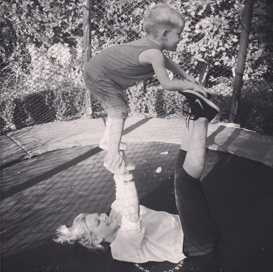 Hilary Duff Has the Best Little Workout Buddy Ever!