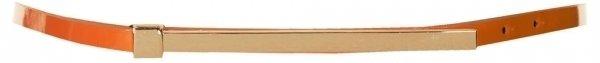 Topshop Super Skinny Orange Metal Bar Belt