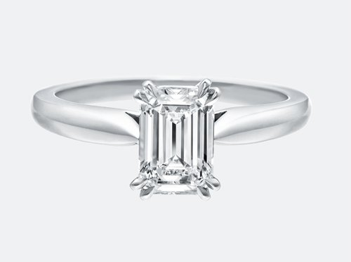 Harry Winston Solitaire, Emerald-Cut Engagement Ring