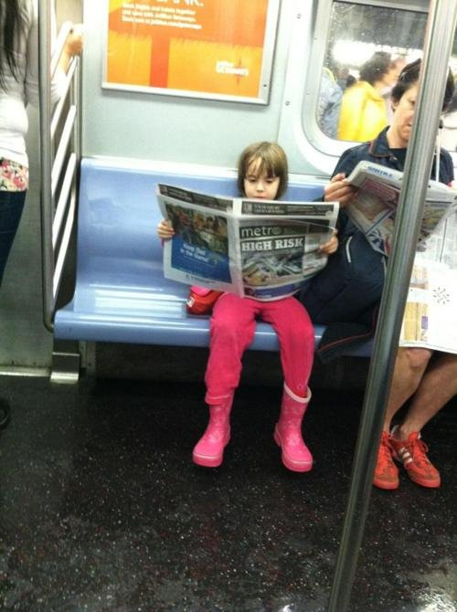 Forget Personal Space in the Subway