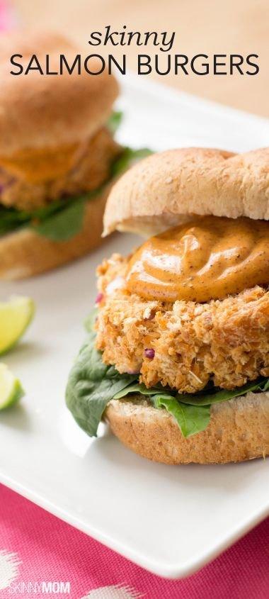 Skinny Mini Salmon Burgers