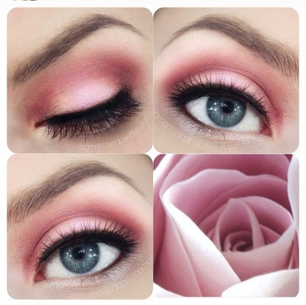 20 rose eye makeup look 42 gorgeous eye makeup looks to try. Black Bedroom Furniture Sets. Home Design Ideas