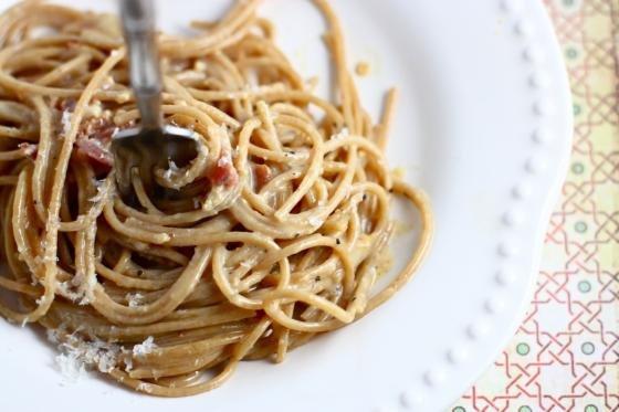 Spaghetti Carbonara for One
