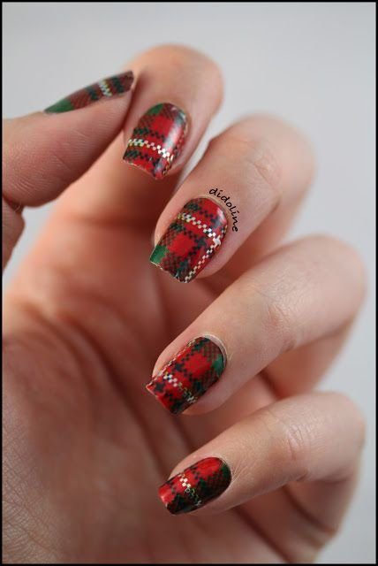 39 Awesome Plaid Nail Art Designs for Your Preppy Days ... …